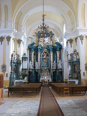 Interior of Roman Catholic Church, Buchach, Uk...
