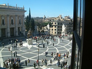 View from the Piazza del Campidoglio.