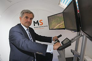 Chris Huhne, British politician, at the Health...