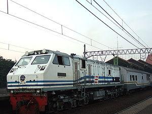 Diesel locomotive CC203, Gambir Station, Jakarta
