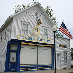 English: The old Jack Sprat Food Store, now Ed...
