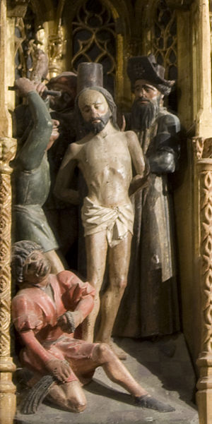 The Flagellation in the courtyard of the palac...
