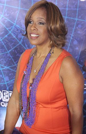 English: Gayle King at the Spiderman: Turn Off...
