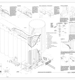 file grain elevator axonometric continental grain company 307 south washington street brownwood brown county tx haer tx 112 sheet 3 of 11 png [ 1280 x 989 Pixel ]