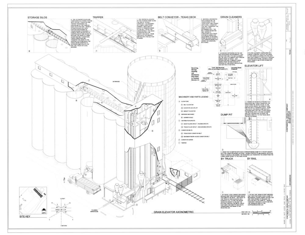 medium resolution of file grain elevator axonometric continental grain company 307 south washington street brownwood brown county tx haer tx 112 sheet 3 of 11 png
