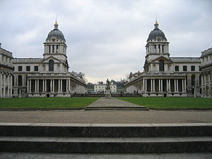 Picture of an Greenwich Hospital from the bank...
