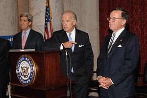 Paul Kirk, John Kerry and Joe Biden