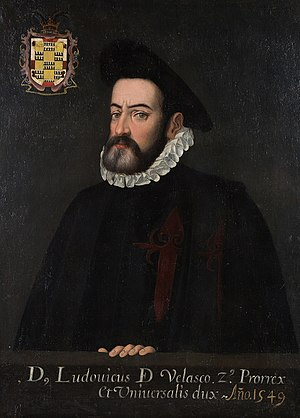 English: Viceroy Luis de Velasco Español: Virr...