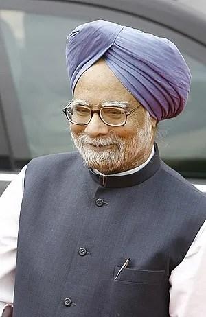English: Manmohan Singh, current prime ministe...