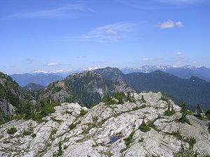 View from the first peak of Mount Seymour