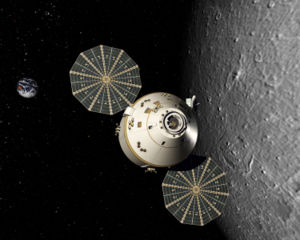 Artist's conception of the Orion Spacecraft in...
