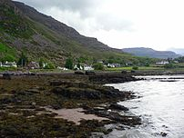 Torridon village seen from Loch Torridon shore...