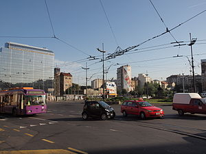 Slavija square Belgrade, Serbia