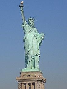 Die Freiheitsstatue, Symbol der Freiheit schlechthin (Bildquelle: Wikipedia)