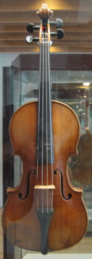 The front view image of the Antonio Stradivari...
