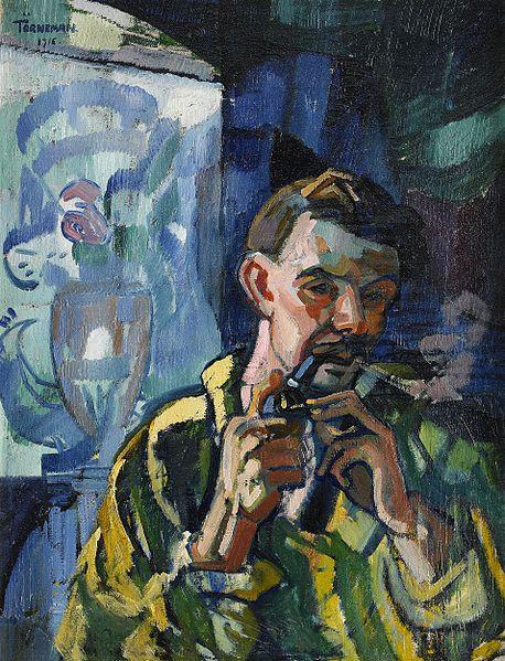 File:Törneman Självporträtt med pipa 1916.jpg