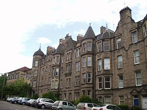 Tenement in Marchmont, Edinburgh built in 1882.