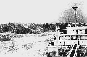 Freak wave. Picture taken in the Bay of Biscay...