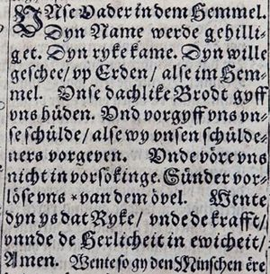 Lord's Prayer in 1614 Bible