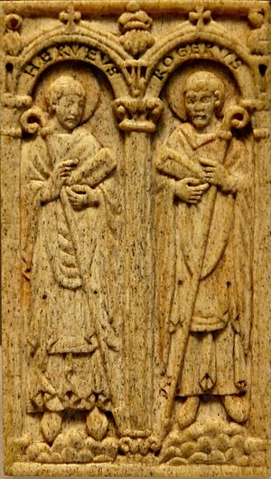 Herveus and Rogers, two bishops of Beauvais of...