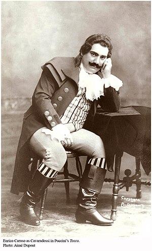 English: Enrico Caruso as Cavaradossi