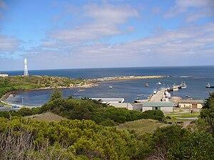 Currie, Tasmania harbour on King Island in Tas...
