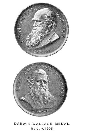 Both sides of Darwin-Wallace medal awarded to ...