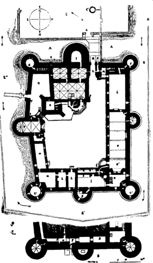 Plan of the present castle