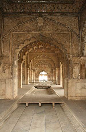 English: Diwan-i Khas, Red Fort, Delhi, India ...