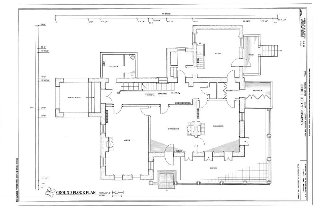 FileGround Floor Plan  SampsonNalle House 1003 Rio