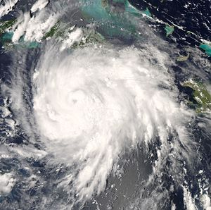 Hurricane Gustav off Jamaica.