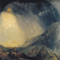 """Hannibal and his Army Crossing the Alps"" by J. M. W. Turner"