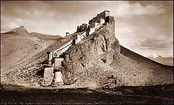 Kampa Dzong, Tibet 1904 John C. White RESTORED