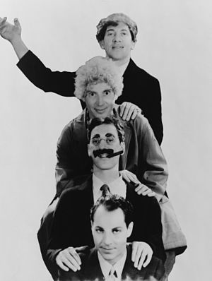 Marx Brothers, head-and-shoulders portrait, fa...