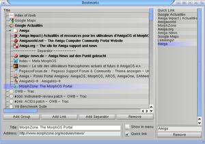 A screenshot of the Origyn Web Browser(OWB) ru...