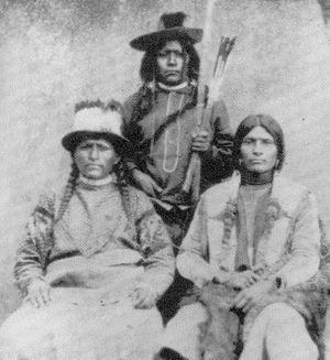 Photos of Paiutes circa 1880