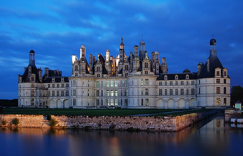 Schloss Chambord nachts 2