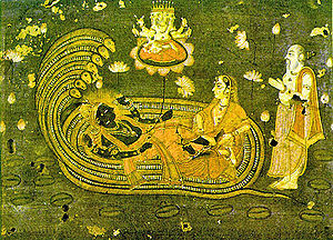 Eighteenth century Vaishnava painting deciptin...
