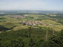 Sicht nach Westen vom Lemberg-Turm