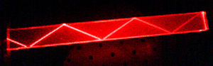 Total internal reflection in a bar of PMMA. Th...
