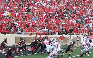 Tech on offense against SMU in 2008