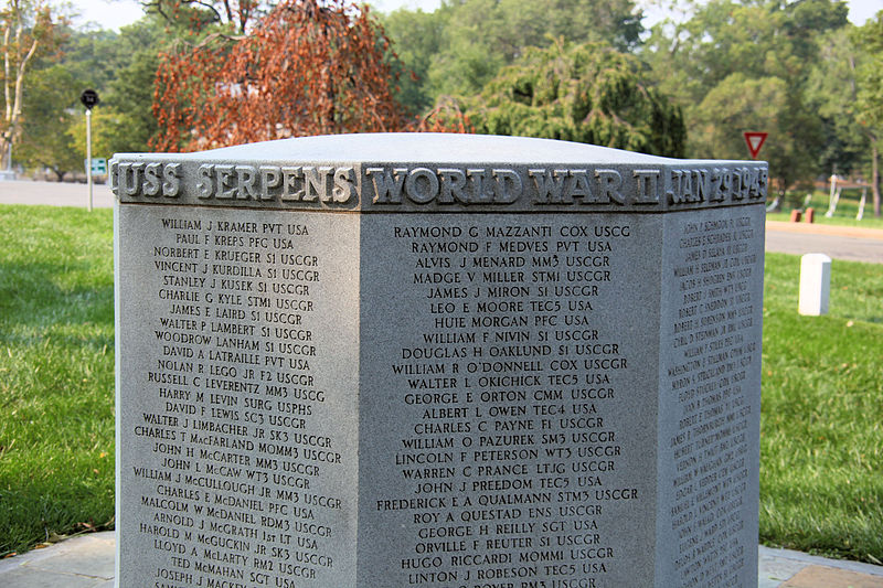 File:USS Serpens Memorial - Arlington National Cemetery - west view - 2011.jpg