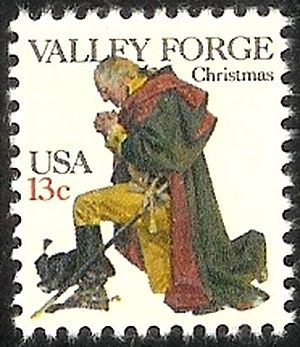 English: US Postage stamp: Washington at Valle...