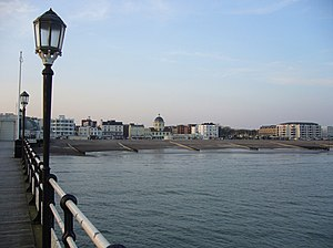 Worthing sea front from the pier In the centre...