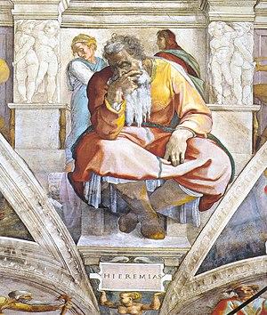 Пророк Иеремия, Роспись свода Сикстинской капеллы