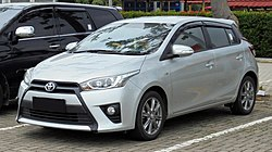 new yaris trd 2017 toyota parts wikipedia third generation hatchback asia latin america and caribbean from 2018
