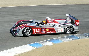 English: Audi R10 TDI, ALMS at Laguna Seca, Oc...