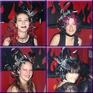English: Several examples of fascinators photo...