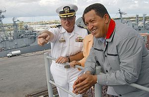 Hugo Chávez on USS Yorktown