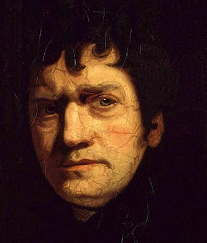 John Wolcot, by John Opie (died 1807). See sou...